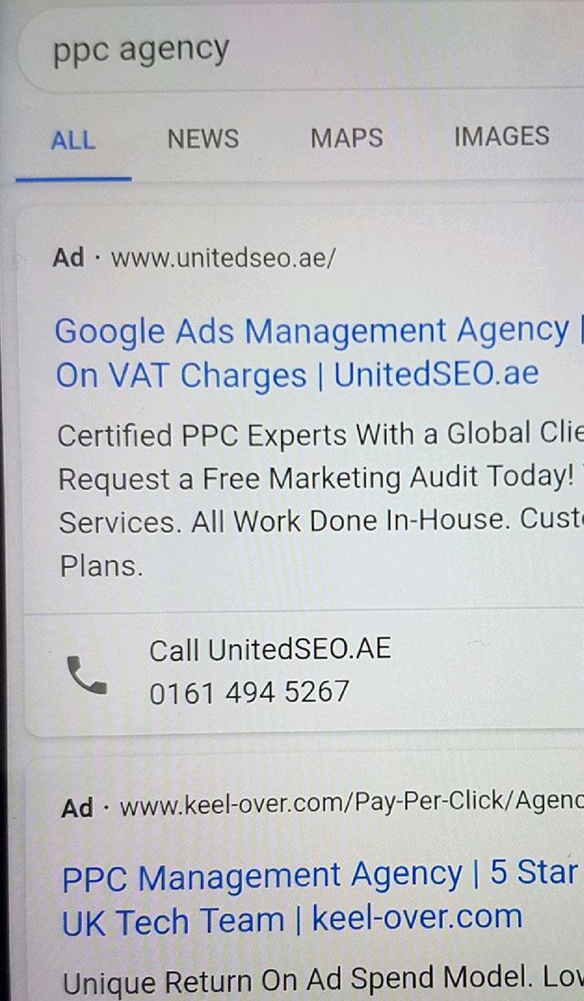Scott Services: Google Testing New Simple Black Ad Label