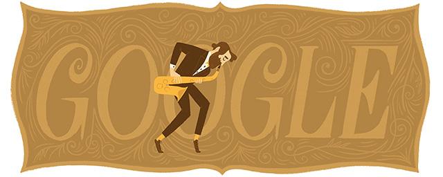 Adolphe Sax Google Logo