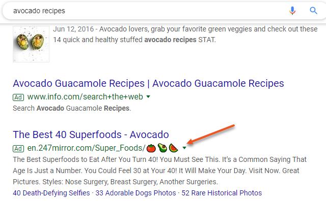 Google Ads emojis URLs