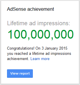 Google AdSense Achievement