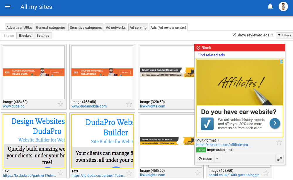 Google Redesigns AdSense Ad Review Center?