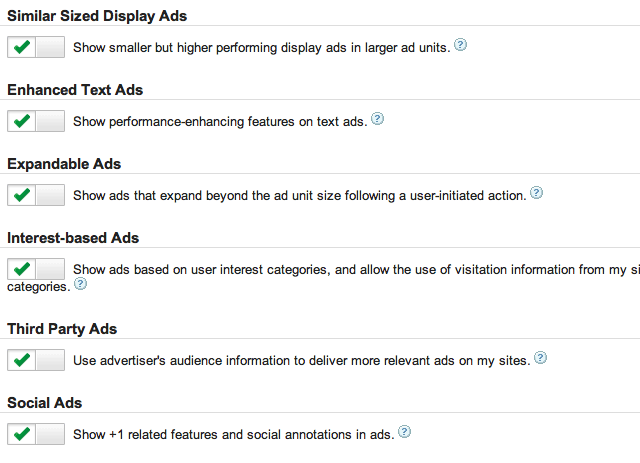 Google AdSense: Block Enhanced Text Ads & Expandable Ads