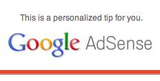 Google AdSense Message