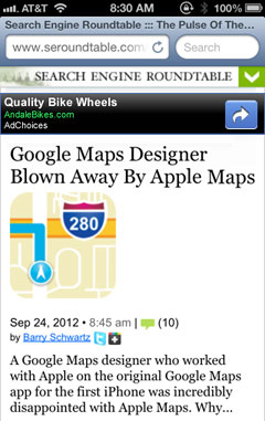 Google Mobile AdSense Ads