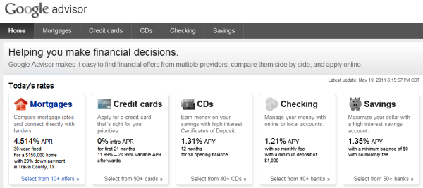 Google Advisor Mortgage