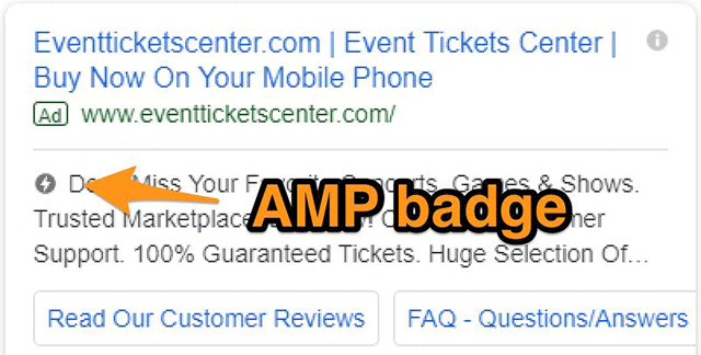 Google AdWords Tests AMP Label On Search Ads