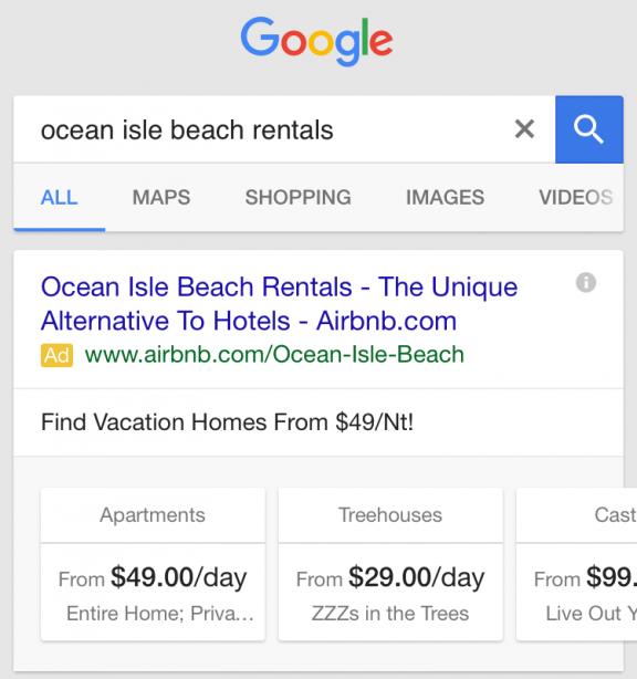 Google AdWords Testing Carousel Based Sitelinks Cards