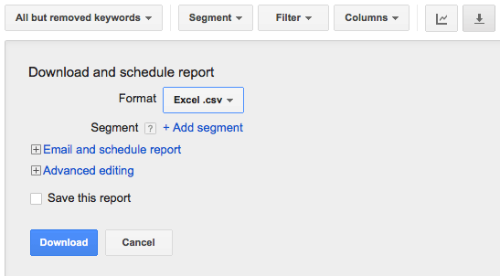 Google AdWords Download Or Print Reports Broken