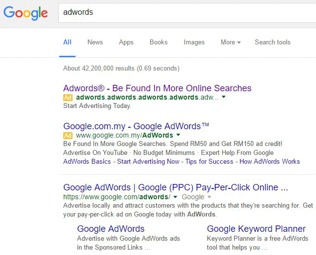 Google AdWords Ad Leads To AdWords Phishing Attempt