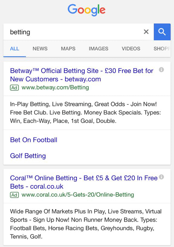 Google AdWords Ads Looking More Like Organic Search