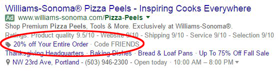 Google AdWords Testing New Promotion Extension Coupon Codes