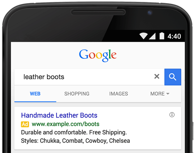Google AdWords Structured Snippets Extensions