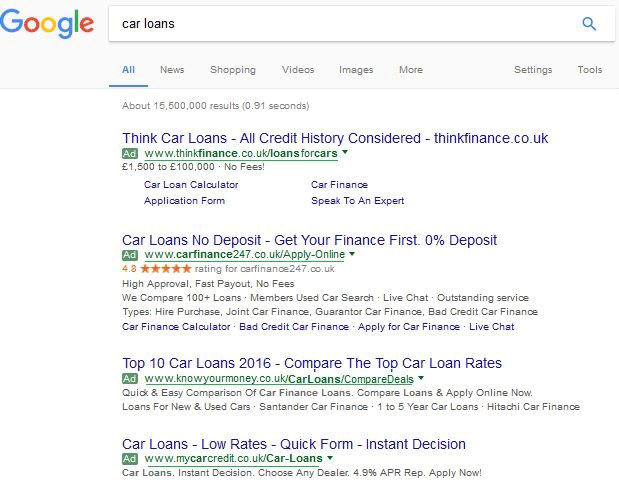 Google AdWords Testing Underlining Display URLs