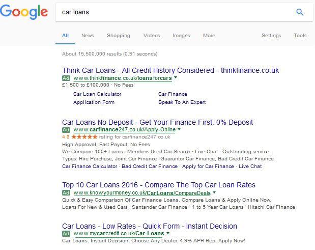 Google AdWords Testing Underlining Display URLs