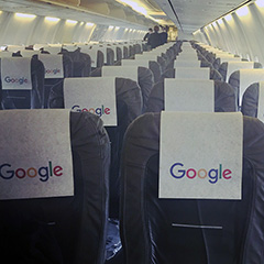 Google Airplane Seat Covers