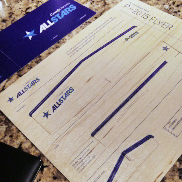 Google Partners Allstar Invitation Via Airplane Flyer