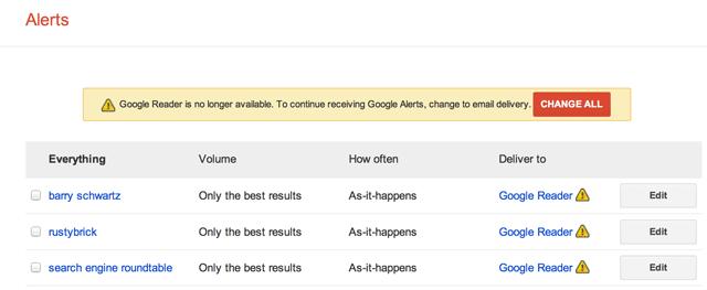 Google Alerts RSS Killed
