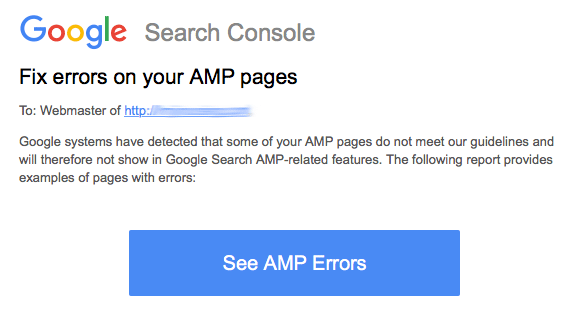 Google Fix Errors On Your AMP Pages