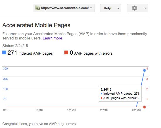 AMP Error reports