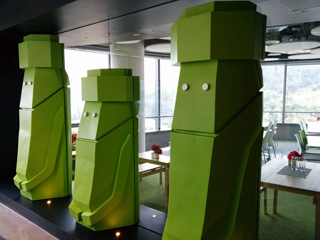Google Android Chile Statues