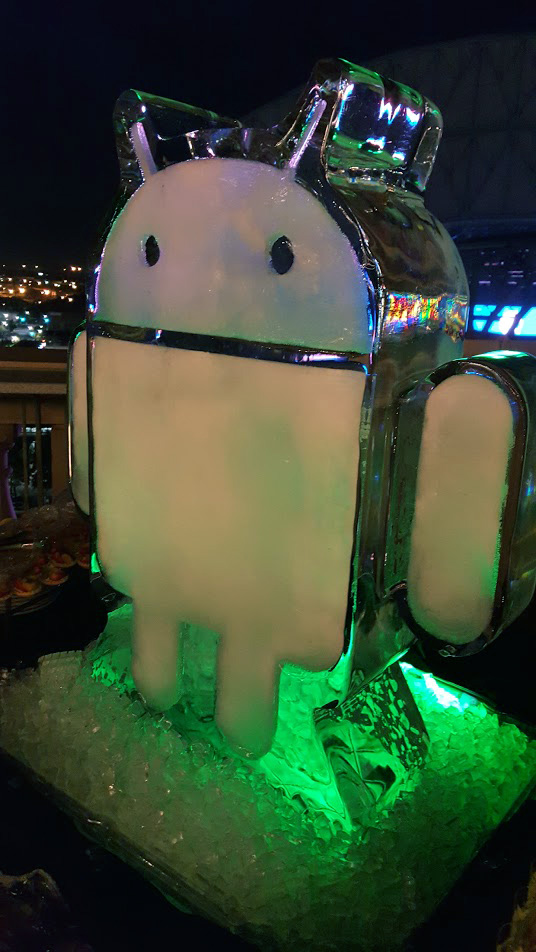 Google Android Ice Sculpture
