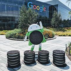 Android Oreo Statue At Google