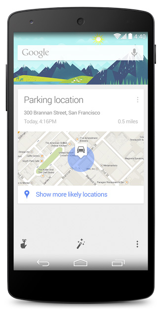 Google Parking Reminders