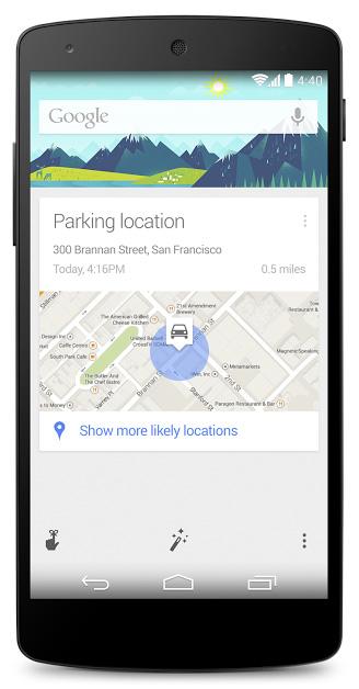 Google Parking Reminders