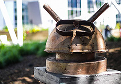 A Rusty Android Helmet At Google Office