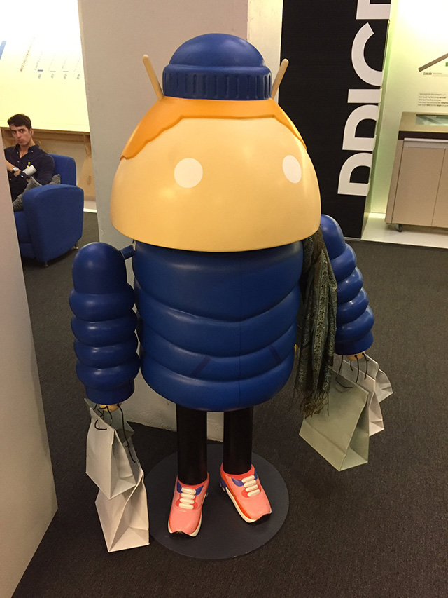 Google Android Winter Ready Statue