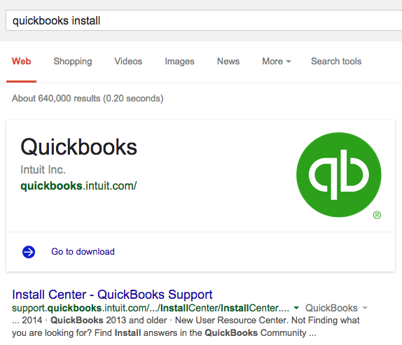 Google Answers Action Links QuickBooks