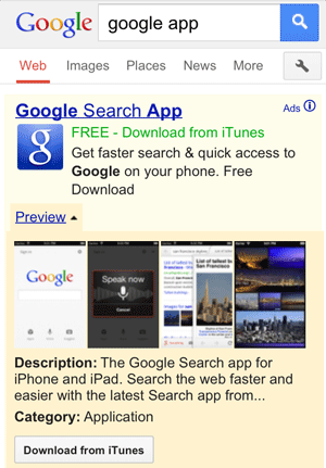 Google App Download AdWords