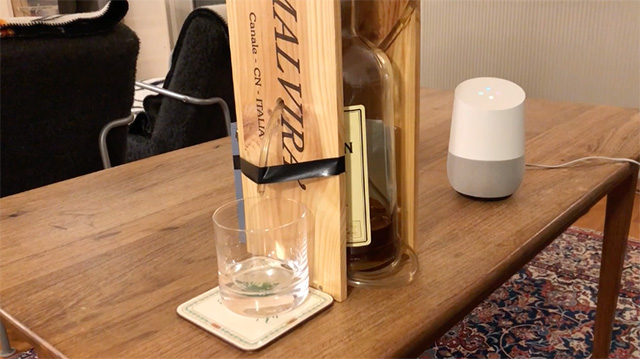 Google Assistant Pouring Whisky