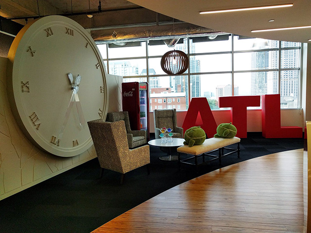 Google Atlanta Office Has A Big Clock