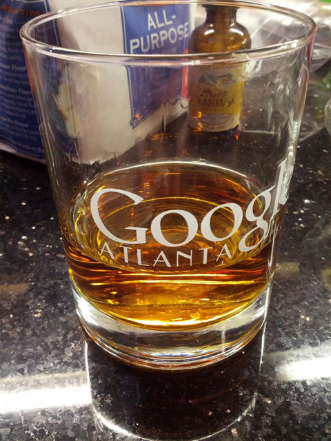 Google Atlanta Drinking Glass