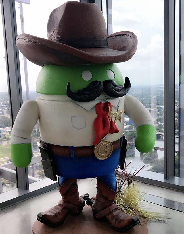 Google Austin Cowboy Android Statue