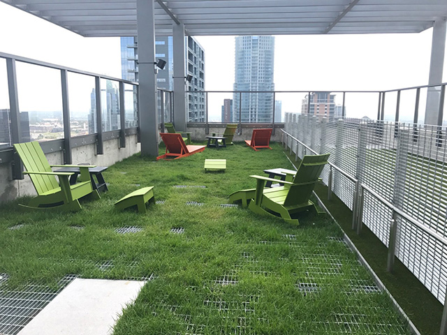 Google Austin Indoor/Outdoor Grass Lounge Area