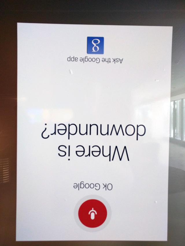 Upside Down Joke At Google Australia
