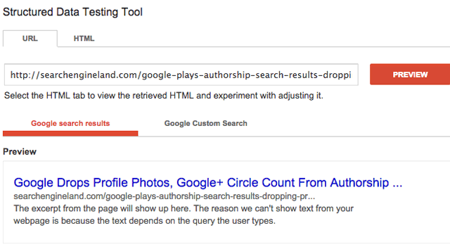 google-authorship-drop-testing-tool