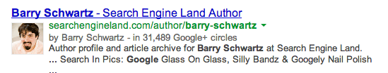 Google Authorship Snippet New