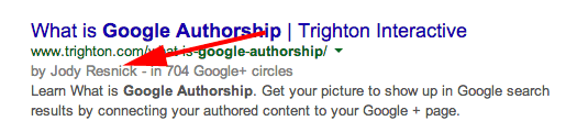 Google Authorship By Line Without Image