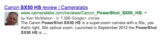 Google Authorship on Product reviews