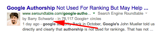 Google Authorship By Line With Image