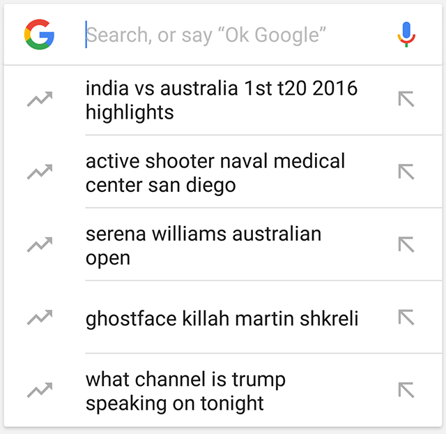 Google Testing Trending In Search Auto Suggestions