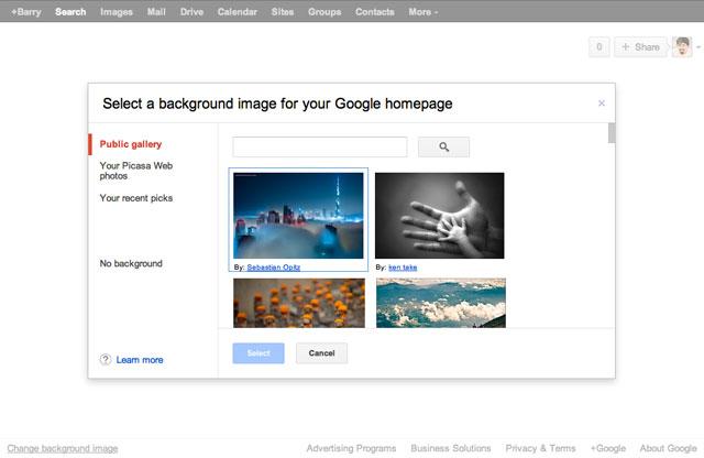 Google.com Background