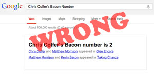 Google Bacon Number Got It Wrong