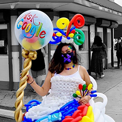 Google Balloon Dress