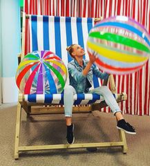 Google Massive Beach Balls & Chair