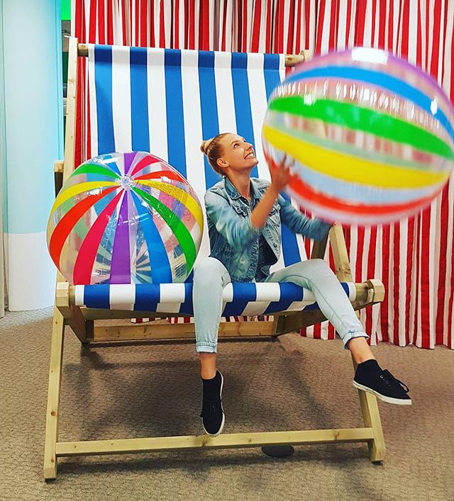 Google Beach Ball & Chair Set Up