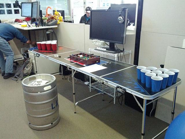 Google Beer Pong Desk